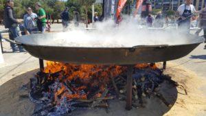 Paella y fuego